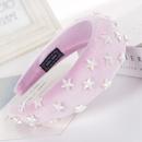 Fashion multicolor star sponge wide headband NHHV139951