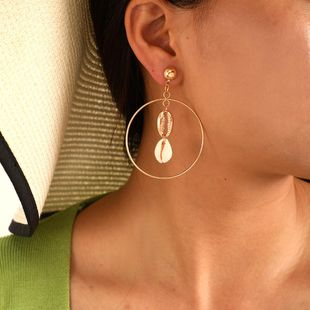 Fashion Round Shell Alloy Earrings NHGY140032's discount tags