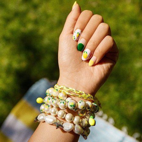 Pulsera de perlas con colgante de piña y fruta NHJQ140102's discount tags