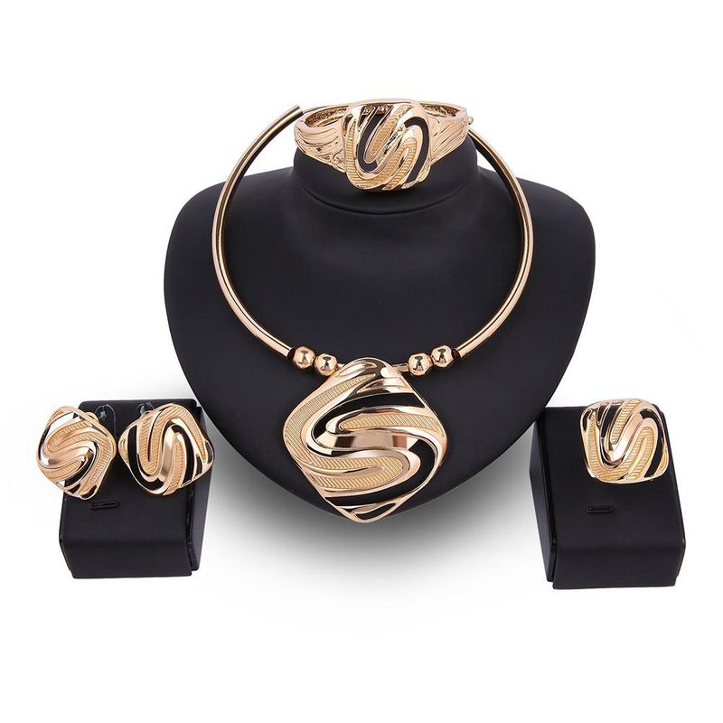 Womens Rhinestone Alloy Jewelry Sets NHXS140169