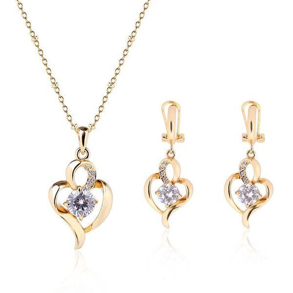 Womens Rhinestone Alloy Jewelry Sets NHXS140173