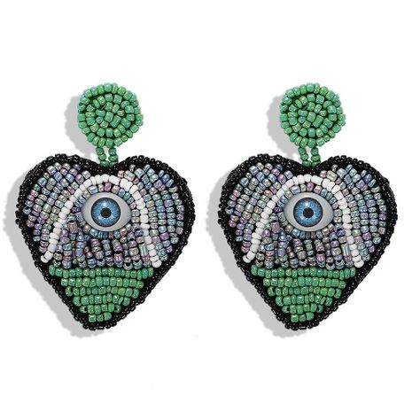 Fashion creative model rice beads devil's eye rice beads earrings NHJQ140217's discount tags