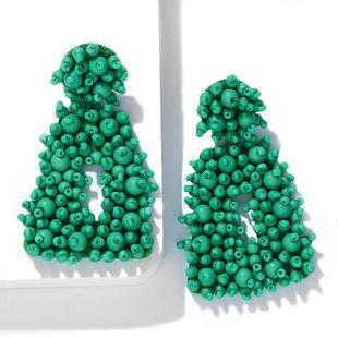 Creative boho woven rice earrings NHJQ140220's discount tags
