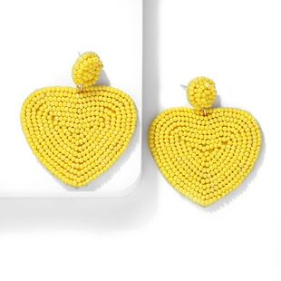 Woven dream color love rice beads earrings NHJQ140234's discount tags