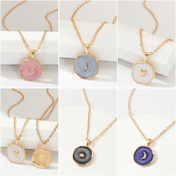 Fashion Drops Stars Moon Alloy Necklace NHNZ140255