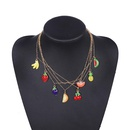 Womens Fruit Plating Alloy Necklaces NHJQ140077