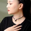 Womens geometric rhinestonestudded copper Necklaces NHQD140161