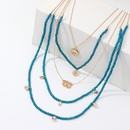 Womens Palm Alloy  Rice Beads Necklaces NHNZ140164