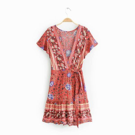 Fashion simple print dress holiday skirt NHAM140319's discount tags