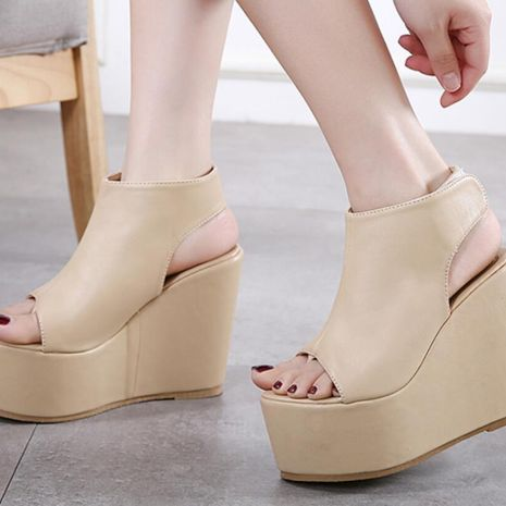 Roman shoes muffin with platform wedge sandals NHSO140496's discount tags