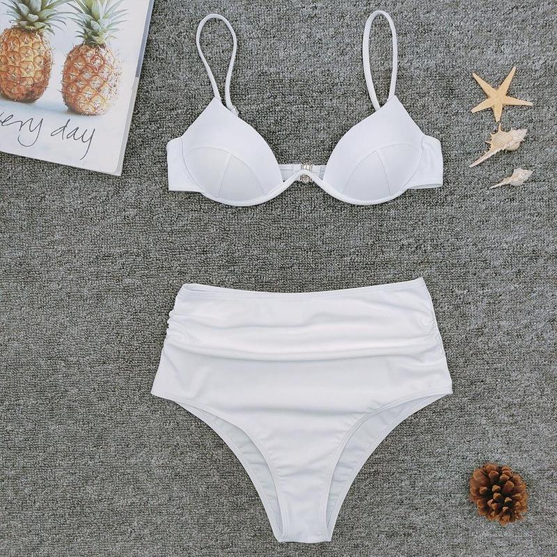 White split triangle bikini NHNM140611