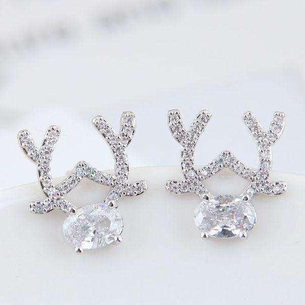Copper & Zircon Earring Korea NHSC200201