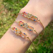 Bracelet Créatif Amour Zircon Cupidon Couleur NHAS140971