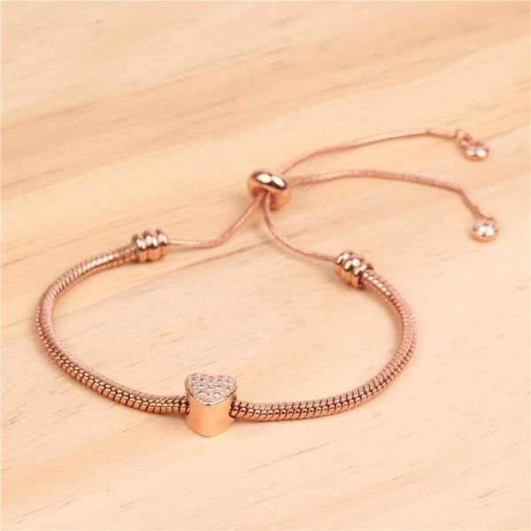 Micro-inlaid colored zircon Heart bracelet NHPY140972