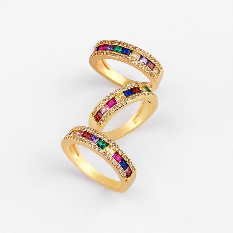 Microinlaid colored zircon rings NHAS140985