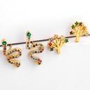 New life tree colored micro inlaid zircon earrings NHAS140978