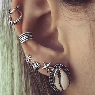 Fashion Bohemian Shell Starfish Anchor Earrings 7 pics NHPV141057's discount tags