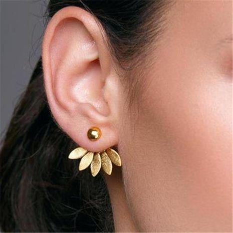 Trendy simple metal stud earrings NHPF141076's discount tags