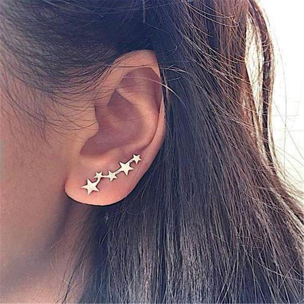 Fashion stars ear cuff clip earrings NHPF141104