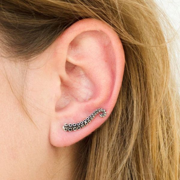 Fashion octopus tentacles sucker earrings NHPV141110
