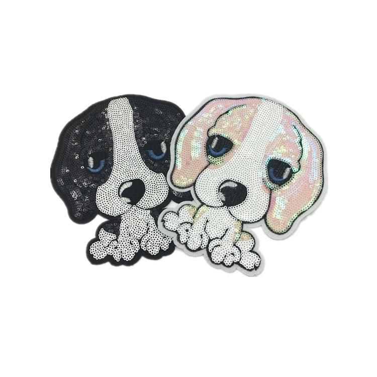 Fashion clothes sequins puppy patch stickers NHLT141153