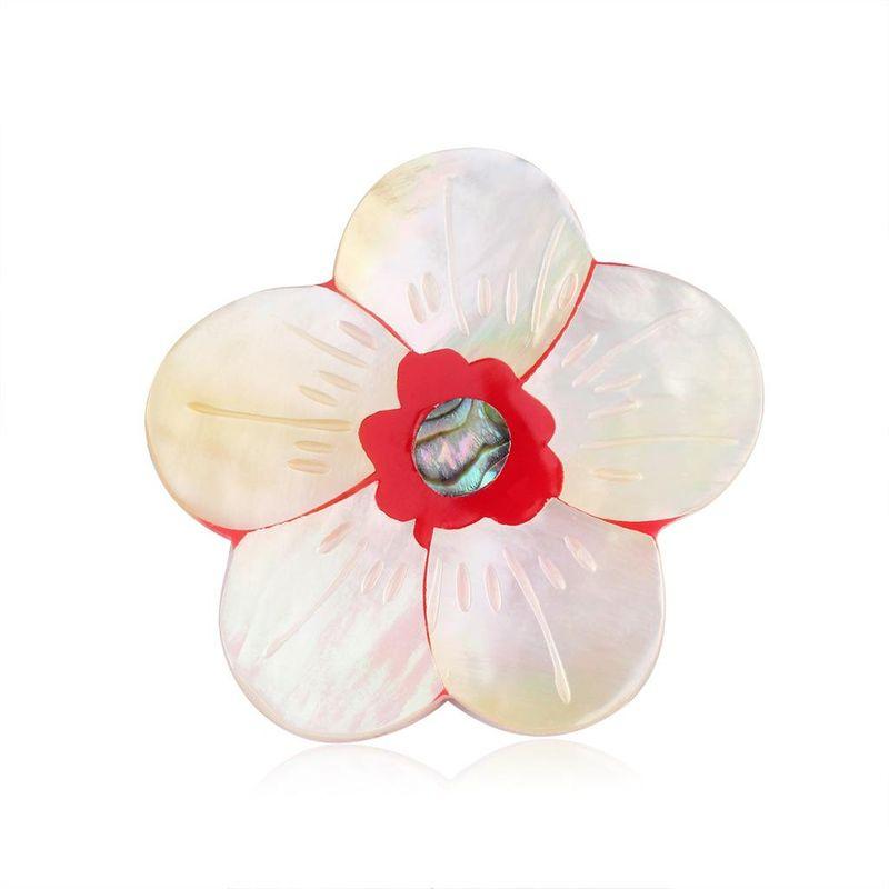 Fashion shell flower brooch NHDR141163