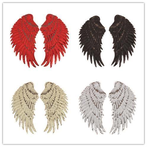 Parche de pegatinas de alas de lentejuelas con cuentas NHLT141190