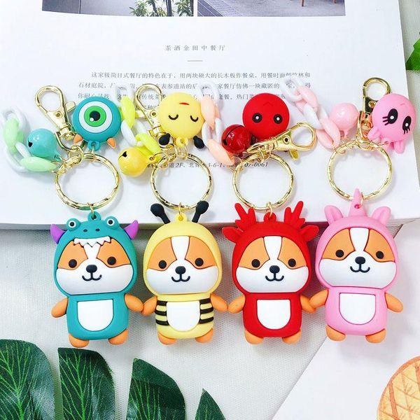 Cute minimalist cartoon DIY turned squirrel keychain NHBM141253