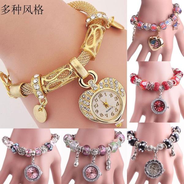 Fashion alloy alloy heart bracelet watch NHMM141357