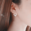 Daisy flower beads leaf snowflake cuff earrings NHPF141080