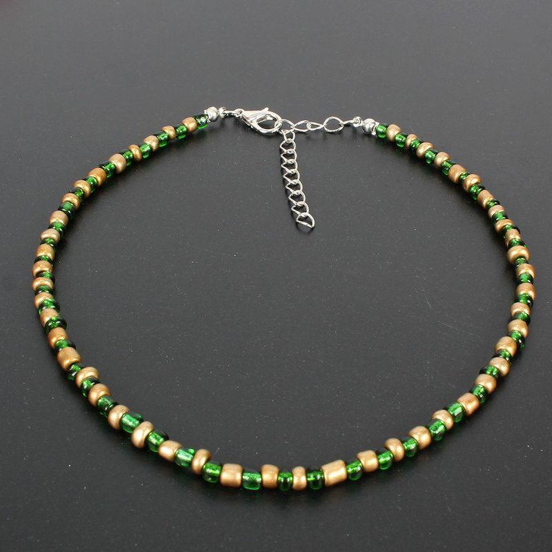 Fashion wild hit color rice beads handmade choker NHCT151240