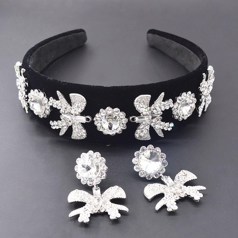 Womens Bow Plating Alloy Hair Band & Headbands NHNT151314
