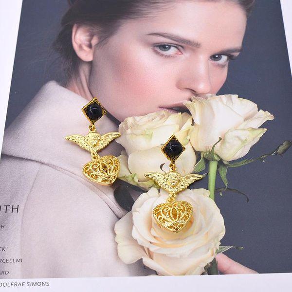 Womens Doll Plating Alloy Earrings NHNT151350