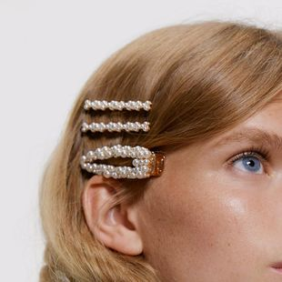 Pearl Hair Clip 4 pics Set NHJE151453's discount tags