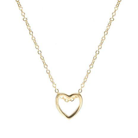 Collier en forme de coeur doré NHPF151510's discount tags