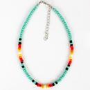 Bohemian short beige beads handmade necklace NHCT151236