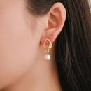 Fashion Irregular Geometric Drops Pearl Earrings NHDP151422