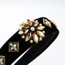 Crystal flower super flash wide side headband NHLN151472