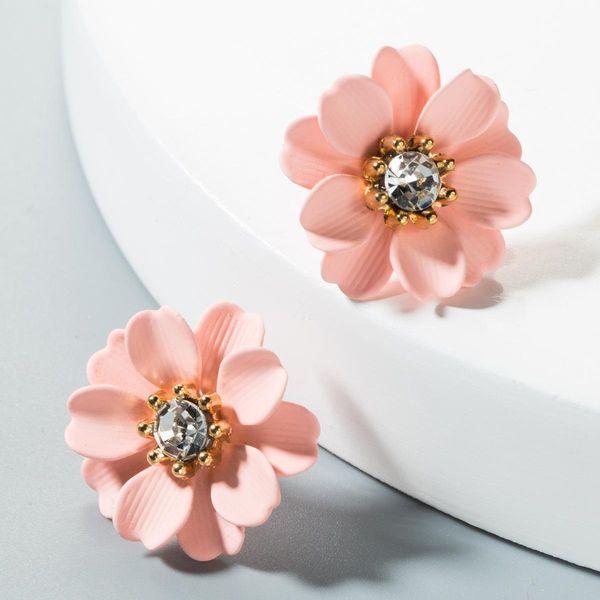 Korean sweet color flower earrings NHLN151559