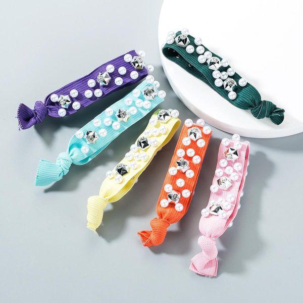 Fashion stretch pearl water drill rope NHLN151666