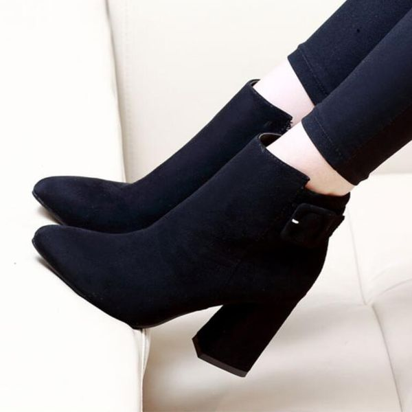 European and American short tube high heel Martin boots NHSO151697