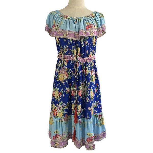 Stylish pleated print dress NHDF151731