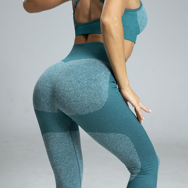 Seamless knit yoga pants sports women leggings NHMA151770