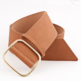 Fashion metal square buckle wide belt NHPO151791's discount tags