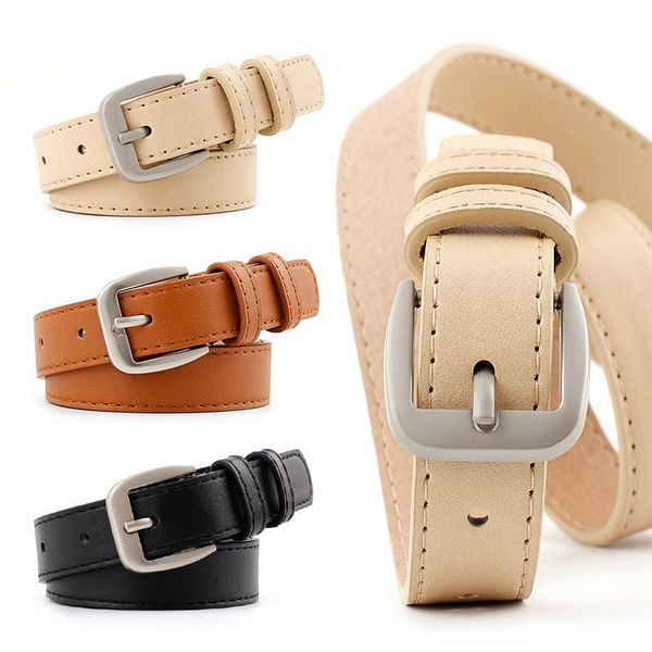 Fashion candy color D-shaped buckle women belt NHPO151794