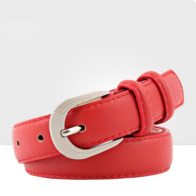 Fashion PU wide metal buckle women belt NHPO151795