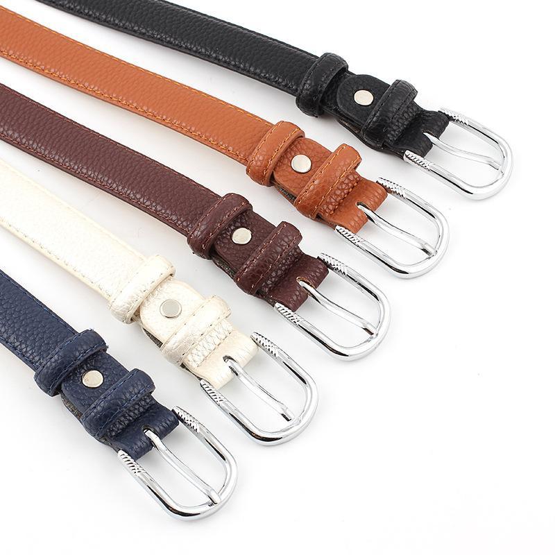 Black PU metal buckle women belt NHPO151796