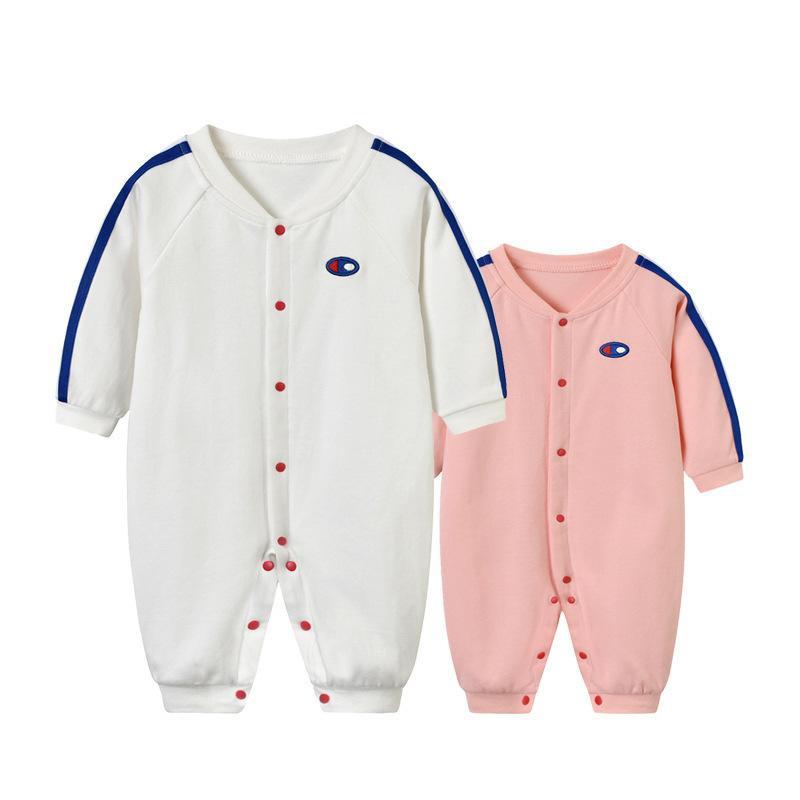 Mamelucos de bebé de manga larga de algodón con bordado de ojos nuevos NHTV151830