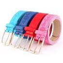 Fashion PU metal pin buckle printed women belts NHPO151800