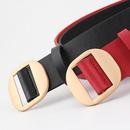 Multicolor round buckle nonporous women PU belt NHPO151804
